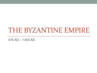 Mayer - World History - Byzantine Empire