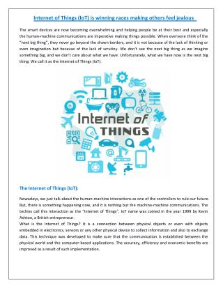 Internet Of Things Is Sure To Rule The Future