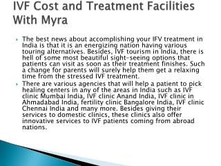 IVF Cost and Treatment Facilities With Myra