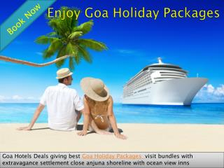 Enjoy Goa Holiday Packages