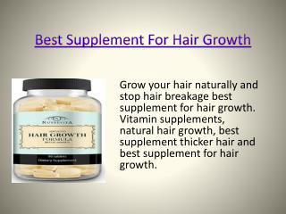 hair growth supplement