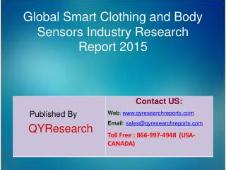 Global Smart Clothing and Body Sensors Market 2015 Industry Analysis, Shares, Insights, Study, Forecasts, Applications,