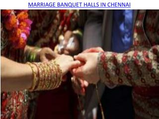 Marriage banquet halls in Chennai