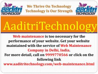 Web Maintenance Company in Delhi, India