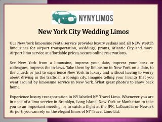 New York City Wedding Limos
