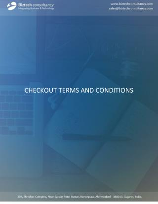 Odoo Checkout Terms and Conditions Apps