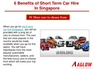 6 Benefits of short term car hire in Singapore