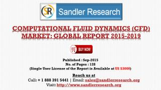 2019 World Computational Fluid Dynamics (CFD) Industry by Market Size, Trends, Drivers and Growth Opportunities Analysis