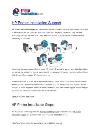 HP printer Installation