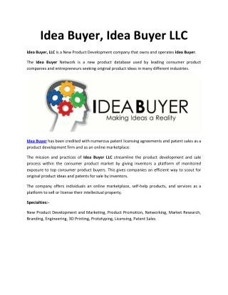 Idea Buyer
