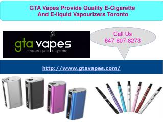 Reasonable E-Cigarettes Online Store In Toronto
