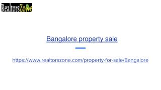 Flats for sale in Bangalore | Realtorszone