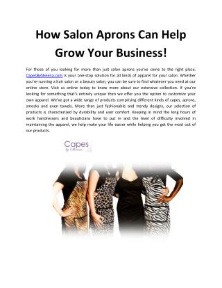 How Salon Aprons Can Help Grow Your Business