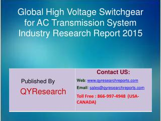 Global High Voltage Switchgear for AC Transmission System Industry 2015 Market Research Report