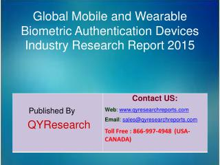Global Mobile and Wearable Biometric Authentication Devices Market 2015 Industry Analysis, Research, Share, Trends and G