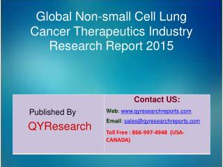 Global Non-small Cell Lung Cancer Therapeutics Market 2015 Industry Growth, Overview, Analysis, Share and Trends
