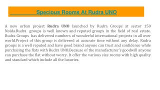 New residential home available at Rudra UNO