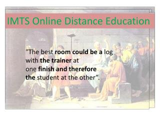 Online Distance Education