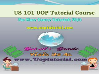 US 101 UOP TUTORIAL / Uoptutorial
