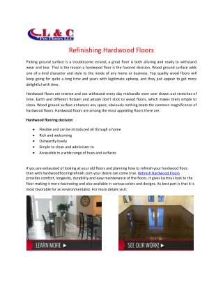 Carpet Installation and Floor Refurnishing Services