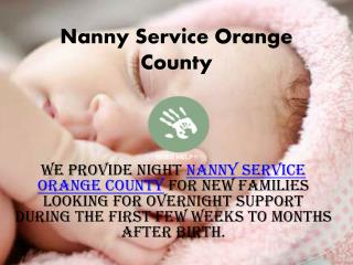 Nanny Services Orange County