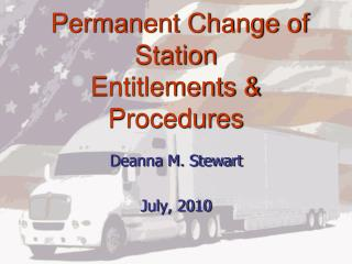 Permanent Change of Station  Entitlements  Procedures