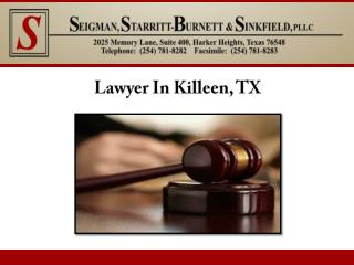 Lawyer In Killeen, TX