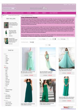 Green bridesmaid dresses - bridesmaidwire.com