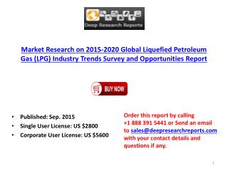 2015 Global Liquefied Petroleum Gas Industry Trends Survey and Opportunities Report