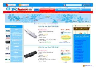 Batterie Sony VGP-BPS13/Q,AC adaptateur,Chargeur