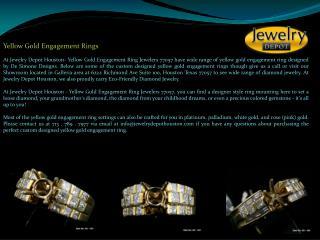 Yellow Gold Engagement Rings   Diamond Engagement Rings Houston