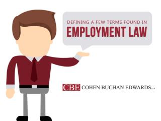 Defining a Few Terms Found in Employment Law