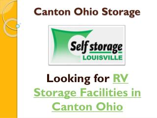 Boat Storage Facility in Canton Ohio