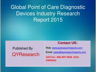 Global Point of Care Diagnostic Devices Market 2015 Industry Analysis, Forecasts, Study, Research, Shares, Insights, Dev