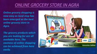 Online grocery store in Agra