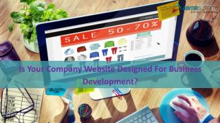 Is Your Company Website Designed for Business Development?