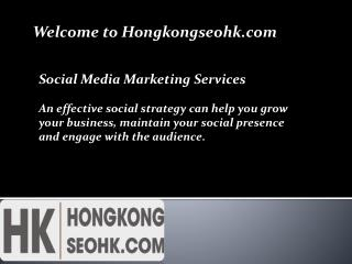 Social Media Marketing Company Hong Kong