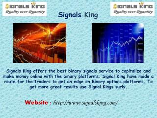 Binary Signals Service - The Best proven method - Signals King