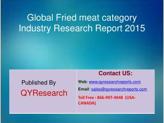 Global Fried meat category Market 2015 Industry Analysis, Research, Share, Trends and Growth