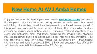 New Home At AVJ Amba Homes