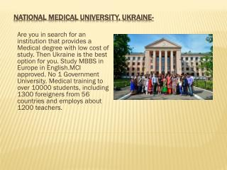 Get MBBS Admission in Ukraine at Affordable Course Fees