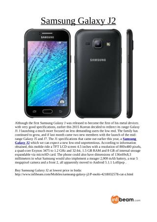 Buy Samsung Galaxy J2 at lowest price in Inida: