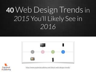 40 Web Design Trends in 2015 You'll Likely See in 2016