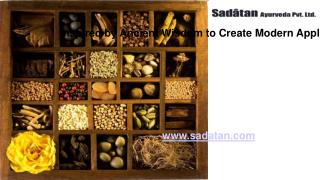 Private Label Cosmetics Manufacturer - Sadatan Ayurveda Pvt. Ltd.
