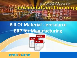 Manufacturing ERP | ERP Software for Manufacturing Industry