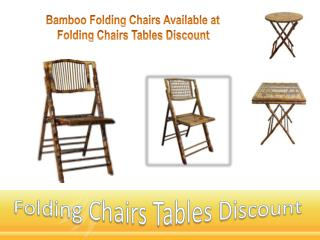 Bamboo Folding Chairs Available at Folding Chairs Tables Discount