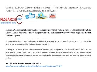 Global Rubber Gloves  Industry 2015 Market Research Report