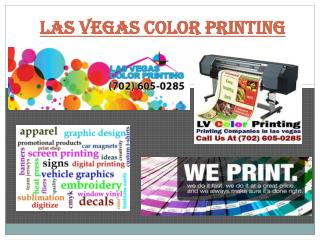 Professional Printing Services in Las Vegas