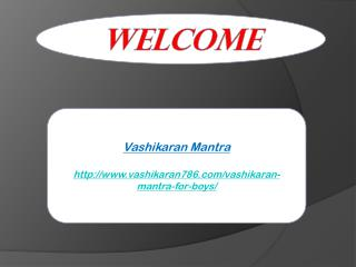 Vashikaran Mantra For Boys