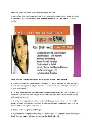 Gmail Helpline Number | Gmail Tech Support Number | Gmail Technical Support Number